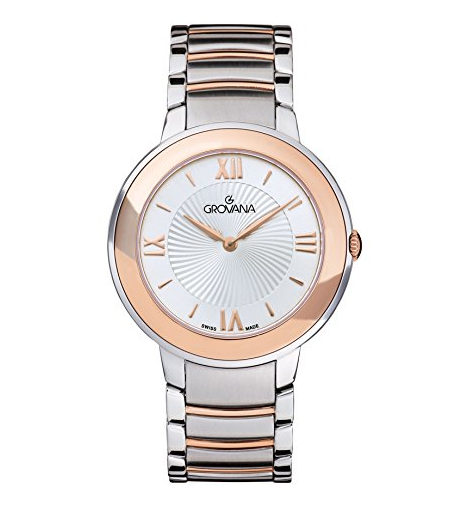 Grovana Ladies bicolor bracelet watch